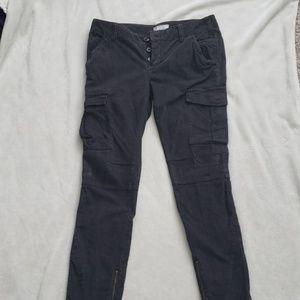 Free People Skinny Cordouroy Cargo Pants Size 30